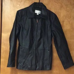 WORTHINGTON women's leather jacket  sz S  black